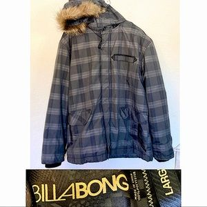 BILLABONG snowboarding parka jacket furry hood
